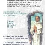 Przygotowanie douroczystego dziękczynienia wArchidiecezji zaogłoszenie Bł.Michała Giedroycia Błogosławionym